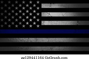 An American flag symbolic of support for law enforcement