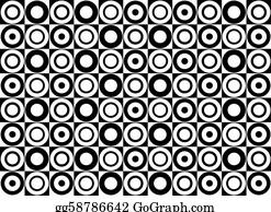 Black and white circle pattern. Vector art