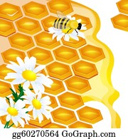 design of honeycomb and flowers Illustration contains a transpar