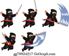 Fat Ninja Animation Sprite