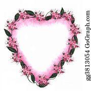 Valentine-Border-Hearts-Frame - Pink Heart Border
