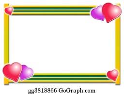 Valentine-Border-Hearts-Frame - Hearts Border