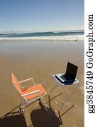 Telecommuting - Beach Office 1