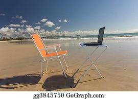 Telecommuting - Beach Office