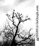 Birds-On-The-Tree-Silhouette - Birds On Tree