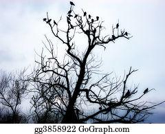 Birds-On-The-Tree-Silhouette - Birds On Tree 2