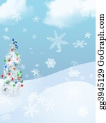 Falling-Snow-Background - Holiday Tree