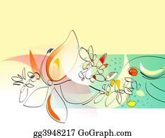 Orange-Border - Spring Flowers
