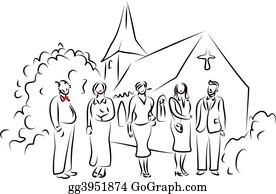 Church-Building - Wedding Party