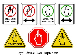 Rudeness - Finger Sign Collection - Jpeg