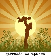 Illustration-With-Happy-Family - Happy Family, Vector