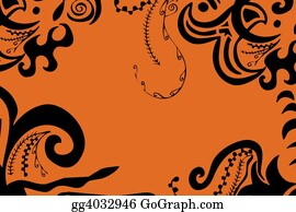 Orange-Border - Swirls Border