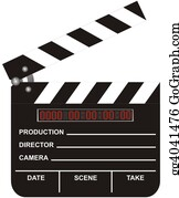 Movie-Production - Open Digital Movie Clapboard