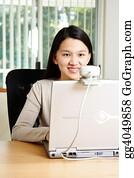 Telecommuting - Businesswoman