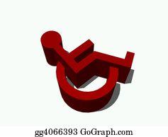 Car-Lot - Disabled 3d Sign