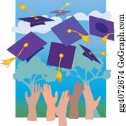 Throwing - Graduation Hats