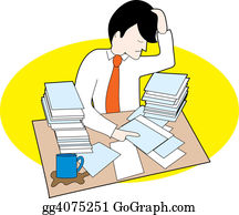 Frustrated - Man With Messy Desk