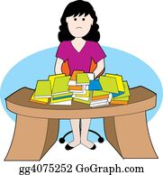 Frustrated - Woman At Messy Desk