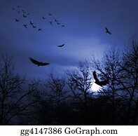 Birds-On-The-Tree-Silhouette - Birds