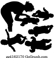 Babies-And-Toddlers-Silhouettes - Silhouettes - Baby 1