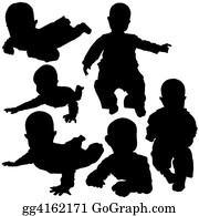 Babies-And-Toddlers-Silhouettes - Silhouettes - Baby 2