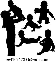 Babies-And-Toddlers-Silhouettes - Silhouettes - Baby 3