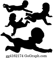 Babies-And-Toddlers-Silhouettes - Silhouettes - Baby 4