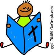 Boy-Reading - Bible Kid