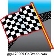 Race-Car - Racing Flag And Crow