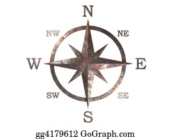 Wind - 3d Generated Compass