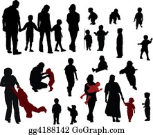 Babies-And-Toddlers-Silhouettes - Family Silhouettes