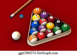 Cue-Ball - Billiard Set On Red