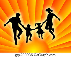 Illustration-With-Happy-Family - Family In The Sun