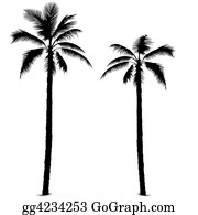 Trunk - Palm Tree Silhouette 1