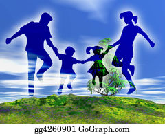 Illustration-With-Happy-Family - Rural Family