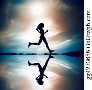 Runners - Runner Silhouetted Reflec