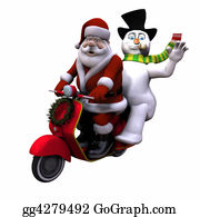 Beards - Santa And Snowman 1 - Isolated