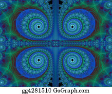 Paisley-Art - Fractal Paisley Background