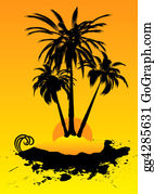 A-Palm-Tree-Sign-In-Yellow-And-Black - Holiday Destination Hot