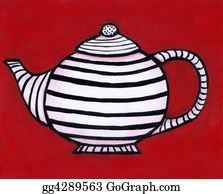 Lid - Striped Teapot