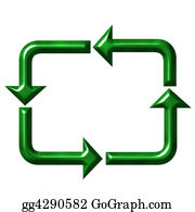 Ecological-Awareness - Square Recycling Symbol
