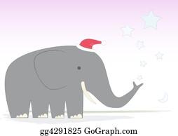 Mr-And-Mrs - Christmas Elephant On A D