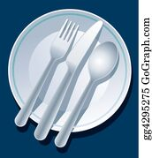 Utensils - Place Setting Blue
