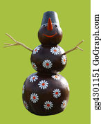 Melting-Snowman - Smiling Chocolate Snowman