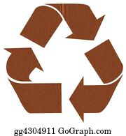 Ecological-Awareness - Wooden Recycling Symbol