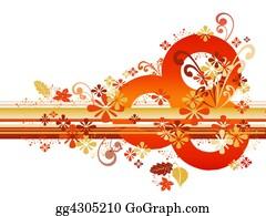 Orange-Border - Abstract Autumn Border