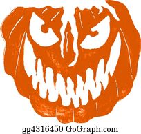 Scary-Pumpkin - Illustration Of  Evil