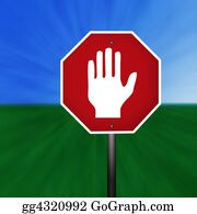 Hand-Sign - Graphic Warning Hand Sign