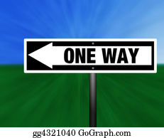 One-Direction-Road-Sign - One Way Street Sign