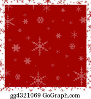 Snowflake - Red Snowflake Background